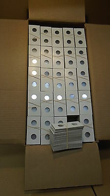 5000 Penny cent Staple type 2x2 cardboard coin holders with mylar windows 19MM