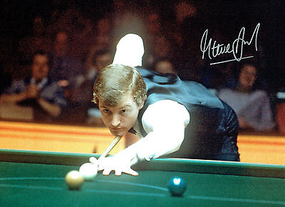 Steve DAVIS Signed Autograph Large 16x12 SNOOKER Photo AFTAL COA