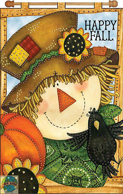 Jeweled Banner Kit ~ Design Works Happy Fall Patchwork Scarecrow #DW4129