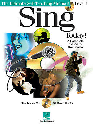 Sing Today! Level 1 Beginner Vocal Singing Lessons Hal Leonard Book CD Pack NEW