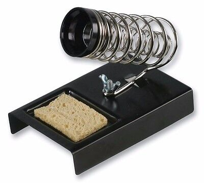 Duratool Quality Metal Soldering Iron Stand - With Sponge