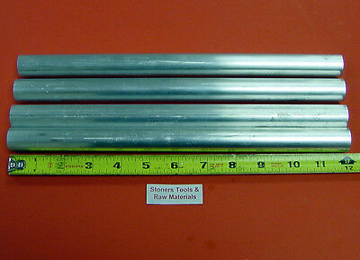 "4 Pieces 7/8"" ALUMINUM 6061 ROUND ROD 12"" long T6511 .875"" Solid Lathe Bar Stock"