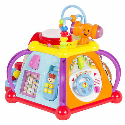 BCP Kids Musical Learning Activity Cube Toy w/ 15 Features, Lights, Sounds