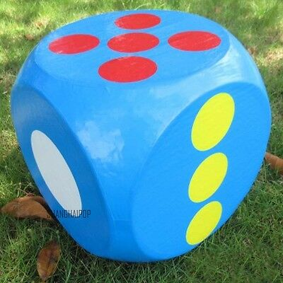 1 X Giant Foam Dice 30cm Six Sided Game Toy Party Yellow/Blue/Red/Green/White