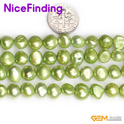 7-8mm Wholesale Lots Freshwater Pearl Gemstone Beads For Jewelry Making 15'' DIY