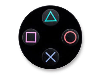 "Pin Button Badge Ø25mm 1"" Manette Pad Controller Joystick Retro Game Playstation"