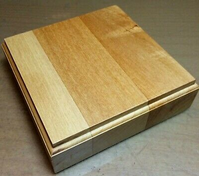 BASETTA BASE IN LEGNO TIGLIO PER FIGURINI - PLINTH DISPLAY WOOD BASE 15x15 h3