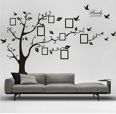 Living Room Tree & Bird Wall Stickers Art Decal Removable Wall Art Home Decor LA