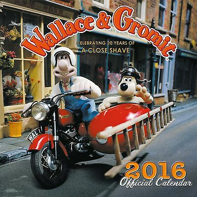 Wallace & Gromit Official Wall Calendar 2016 Square New & Sealed