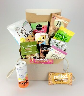 Love Vegan Deluxe Gift Hamper - Nakd Good Stuff Sweets Nuts Birthday Christmas