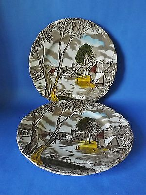 Two Grindley - Sunday Morning 8 Inch Plates