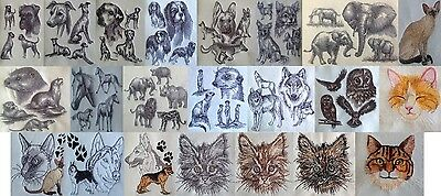 Completed Embroidery Cats Dogs Wildlife Siamese Tabby Boxer Shepherd Husky +more