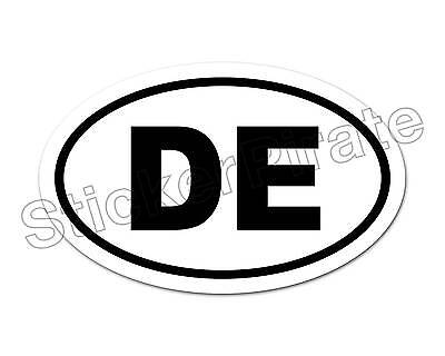Delaware DE Home State Solid Navy Blue Officially Licensed Car Euro Oval Magnet