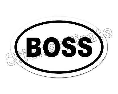 * Oval Car Magnet BOSS Magnetic Bumper Sticker