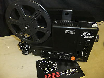 Cine film projector EUMIG S912 Optical Level System super 8 + lead + INSTRUCTION
