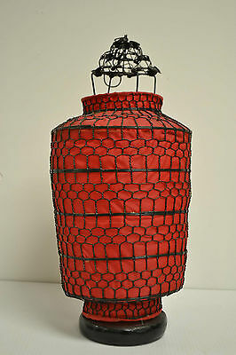 Nice Asian Chinese Red Fabric Lantern Feng Shui Home Decor Party Gift AUG12-05