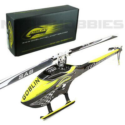 Sab SG707 Goblin 700 Competition Yellow/Carbon Helicopter Kit w/ Main/Tail Blade