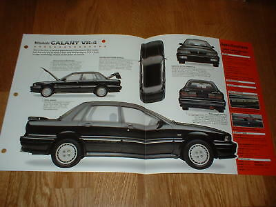 ★★1988 Mitsubishi Galant Vr4 Spec Sheet Brochure Poster Print Photo 88 89 90 91