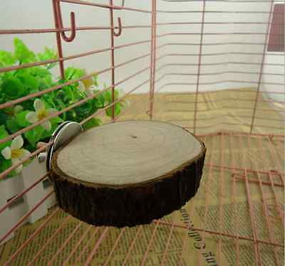 Pet Bird Parrot Hamster Wooden Cage Perches Stand Platform Hanging Chew Bite Toy