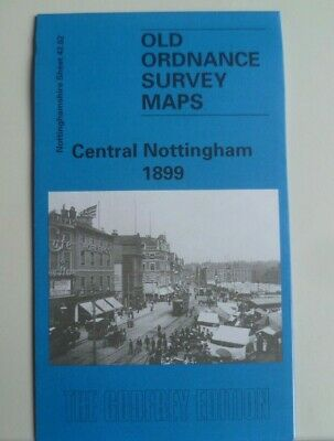 Old Ordnance Survey Detailed Maps Central Nottingham 1899  Godfrey Edition New