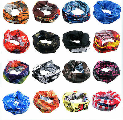 2pcs  Multicolors Snood Bandana Head Face Mask Neck Warmer Sport Running Scarf