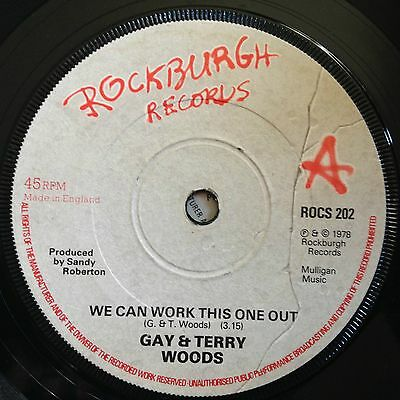 "Gay & Terry Woods We Can Work This One Out UK 1978 7"" Rockburgh Recs"
