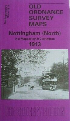 Old Ordnance Survey Map Nottingham North Mapperley & Carrington 1913 S38.14 New
