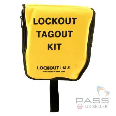 LOTO Electrician Nylon Lockout Pouch - Heavy Duty, Small