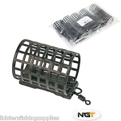 NGT Round Metal Cage Feeders either 15g 20g 25g Carp Fishing Tackle Groundbait