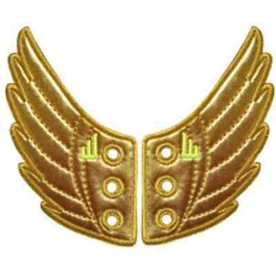 SHWINGS GOLD FOIL wings for your shoes official designer Shwings NEW 10101