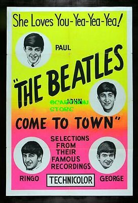 """THE BEATLES COME TO TOWN AD - Flexible Fridge Magnet Approx 5"""" x 4"""""""