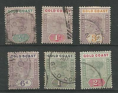 Gold Coast 1898 Fine Used Victorian To 2/- Cat £90