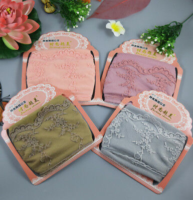 Women Lace Facial Mouth-Muffle Face Masks Windproof Anti-Dust Warm Breathable