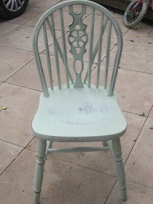 Vintage Quality Wheelback Dining Chair  upcycled