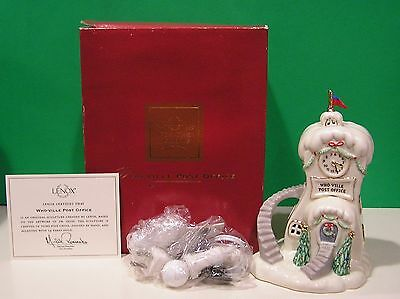 LENOX WHO-VILLE POST OFFICE Grinch NEW in BOX with COA Dr. Seuss Whoville