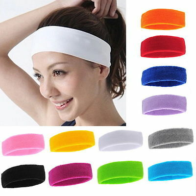 Fashion Women Men Sport Sweat Sweatband Headband Hair Band Yoga Gym Stretch