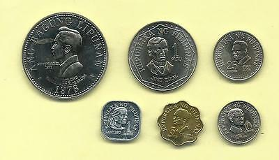 Philippines 1976 One Centavo - Five Peso, 6-Coin Proof Set