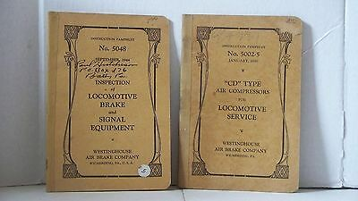 Locomotive Books Westinghouse Air Brake Company Instruction Pamplets
