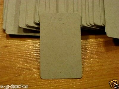 "LOT 100 LARGE RECTANGLE KRAFT Paper Merchandise Price Tags UNSTRUNG 1¾""W x 2⅞""H"