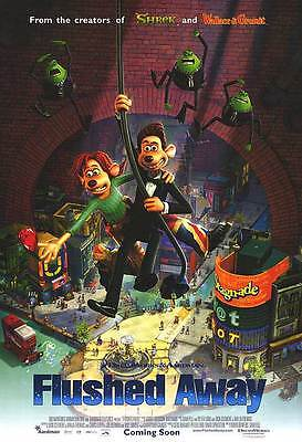 Flushed Away Version B Double Sided Original Movie Poster 27x40 inches