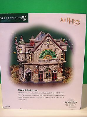 DEPT 56 HALLOWS THEATRE OF THE MACABRE Dickens NEW in BOX