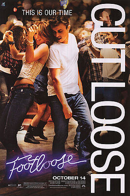 Footloose Version B Double Sided Original Movie Poster 27x40 inches