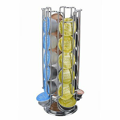 24-Capsule Coffee Revolving Pod Holder Storage Stand Rack For Dolce Gusto BY