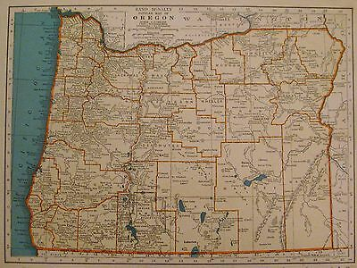 1938 Vintage OREGON Map of Oregon State Map Gallery Wall Art Home Decor 2171