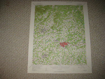 Antique 1957 Easley Liberty Pickens South Carolina Topographical Map Detailed Nr