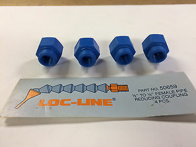 """Locline 50659 1/2"""" To 1/4"""" Female Pipe Reducing Couplings, Pack Of 4"""