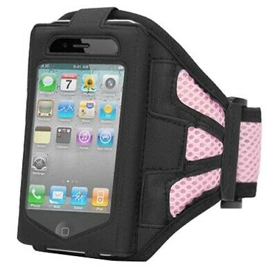 New Sports Running Gym Pink Armband Holder Case Cover for Apple iPhone 4 4g - By