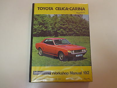 Toyota Celica Carina from 1971 Workshop Service Manual- Intereurope 192