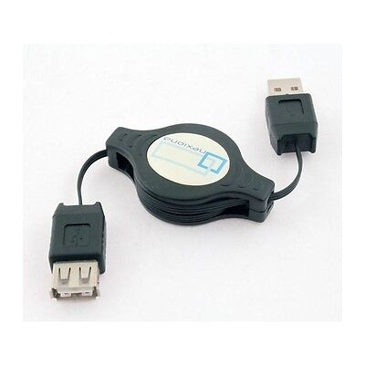 Cable usb 2.0 retractil macho - hembra alargador prolongador - envio rapido