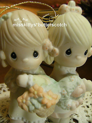 Precious Moments~ORNAMENT~To My Forever Friend~113956~2 girls w Basket~clef mark